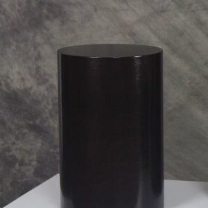 Black Cylinder Pedestals