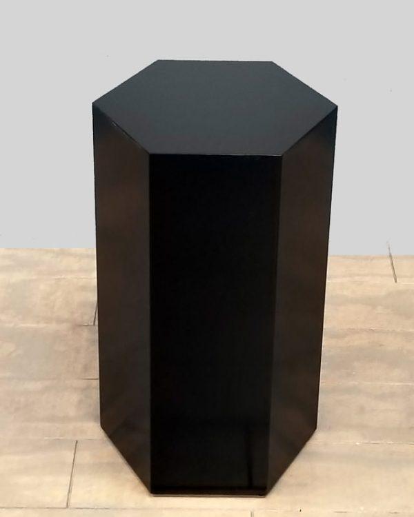 Black Lacquer Modern Hexagon Pedestals