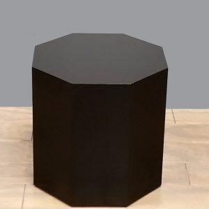 Black Lacquer Modern Octagon Pedestals