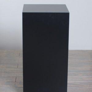 Black Lacquer Rectangular Pedestals