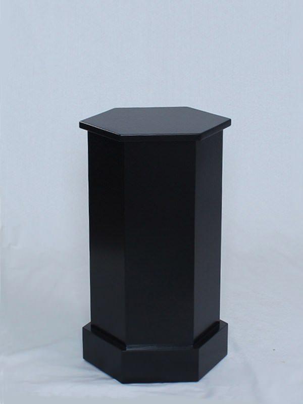 Black Lacquer Traditional Hexagon Pedestals