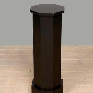 Black Lacquer Traditional Octagon Pedestals