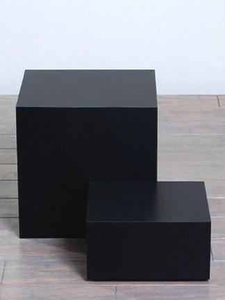 Black Matte Laminate Rectangular Pedestals