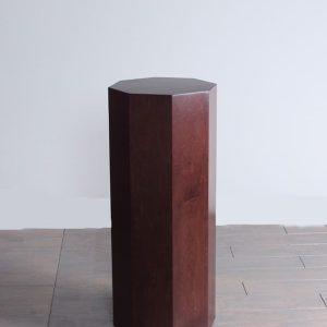 Dark Espresso Wood Modern Octagon Pedestals