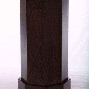 Dark Espresso Wood Traditional Octagon Pedestals