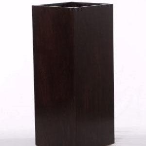 Espresso Wood Museum Pedestal Recess Top