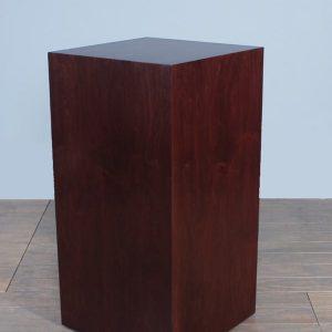 Espresso Wood Rectangular Pedestals