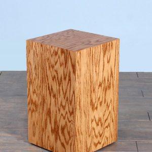 Golden Oak Wood Rectangular Pedestals