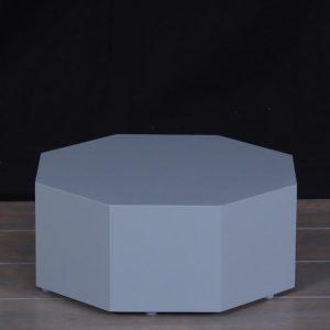 Grey Lacquer Modern Octagon Pedestals
