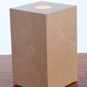Led Uplit Wood Pedestals