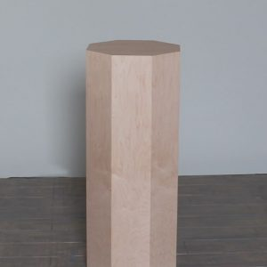 Natural Maple Wood Modern Octagon Pedestals