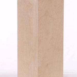 Natural Maple Wood Museum Pedestal Recess Top