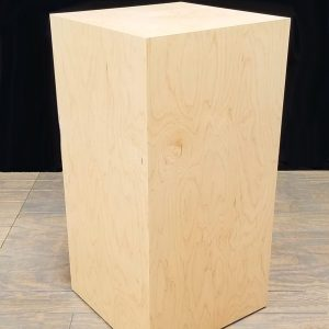 Natural Maple Wood Rectangular Pedestals