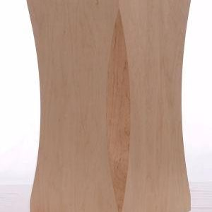 Natural Maple Wood Scalloped Pedestals