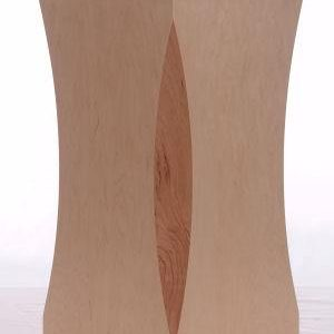 Natural Maple Wood Scalloped Pedestals With Cherry Inserts