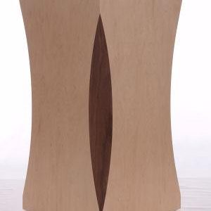 Natural Maple Wood Scalloped Pedestals With Walnut Inserts