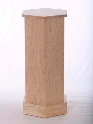 Natural Maple Wood Traditional Hexagon Pedestals