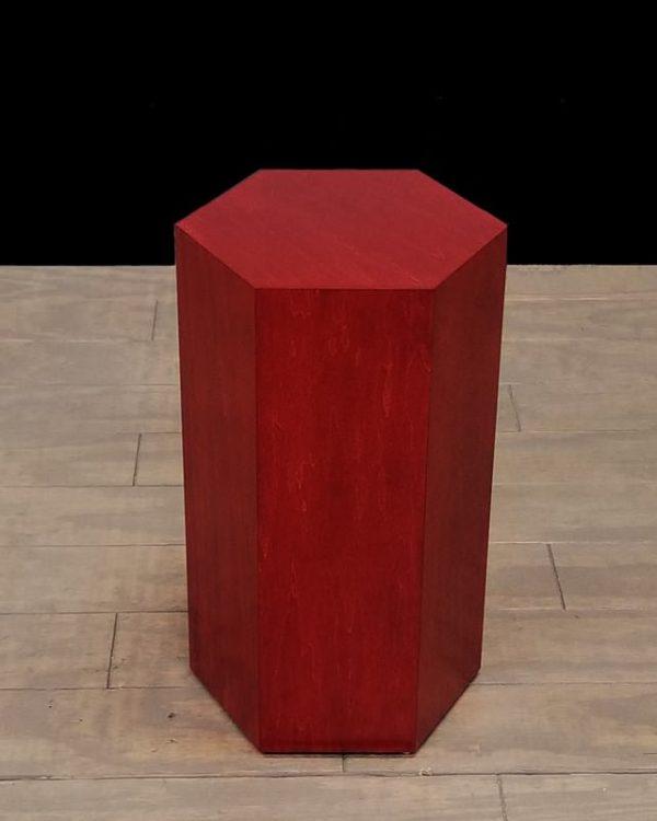 Rosenut Wood Modern Hexagon Pedestals