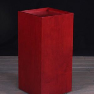 Rosenut Wood Museum Pedestal Recess Top