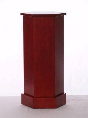 Rosenut Wood Traditional Hexagon Pedestals