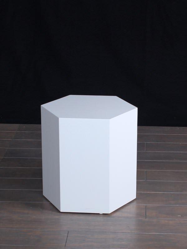 White Lacquer Modern Hexagon Pedestals