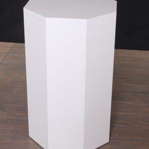 White Lacquer Modern Octagon Pedestals