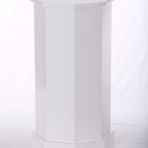 White Lacquer Traditional Octagon Pedestals