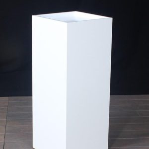 White Lacquer Wood Museum Pedestal Recess Top