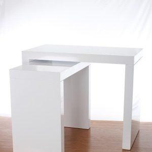 White Laminate Parsons Table
