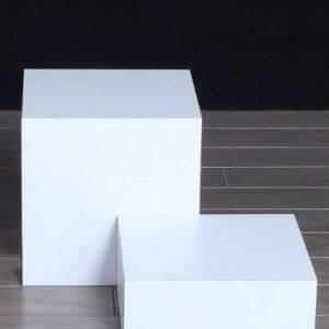White Matte Laminate Rectangular Pedestals